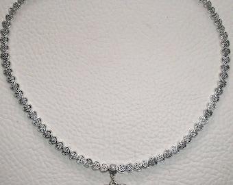 Hypoallergenic nickel free silver metal Heart Necklace