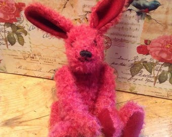 "Berry, a 7"" limited edition hand made collector's mohair hare"
