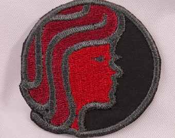 Embroidered Horoscope Astrology Red & Black Virgo the Virgin Sign Patch Applique Iron On Sew On USA