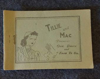 "Tijuana bible. Eight pager. Tillie and Mac presents ""One down and four to go"" 1930's"