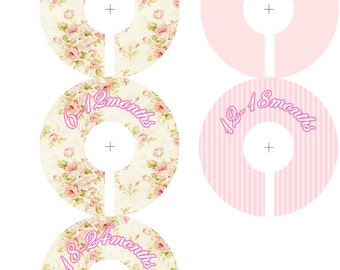 Baby Closet Organizer Clothing Dividers for Girls - Shabby Chenille