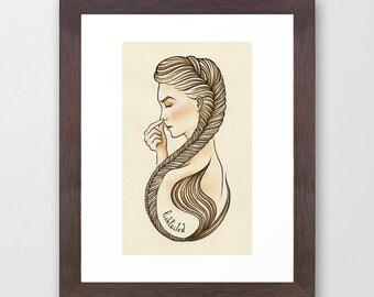 Fishtailed | Signed Art Print