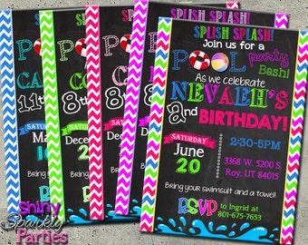 POOL PARTY INVITATION - Pool Party Invite - Summer Pool Party Birthday Invitation - Summer Birthday Invite - Swimming Pool - swimming party