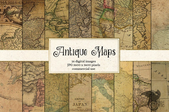 Antique maps digital paper vintage maps world map scrapbook gumiabroncs Image collections