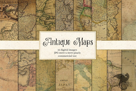 Antique maps digital paper vintage maps world map scrapbook gumiabroncs