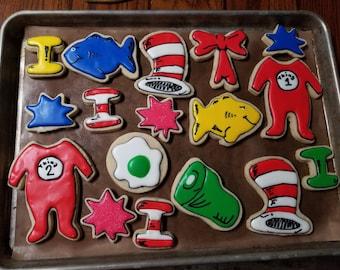 Dr Seuss Sugar Cookies 1 dozen