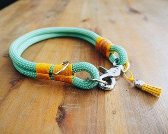 Dog collar climbing rope, handmade
