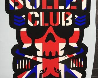 The Bullet Club Marty Scrull villian club UK Union Jack flag Kenny Omega Young Bucks Vinyl Car Decal NJPW ROH wwe