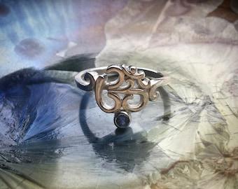 Sapphire Om Ring