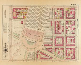 1909 Vintage Washington DC Map Print