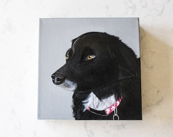 dog portrait, pet portrait, pet gift idea- custom pet portrait- dog painting-dog lover gift idea-8x8 or 12x12 custom painting of your dog