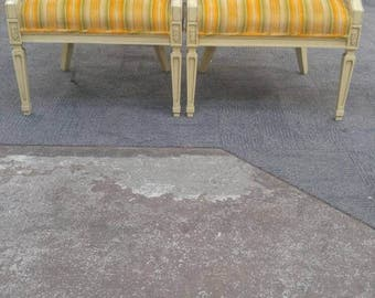 Vintage Cane Barrel Chairs (2) in  MCM Vibrant Hippy Pattern