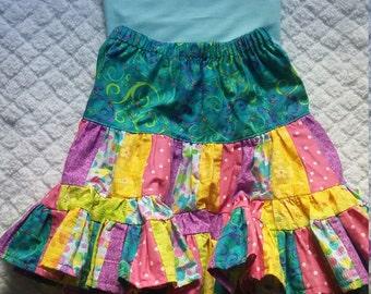Girls ruffle skirt outfit