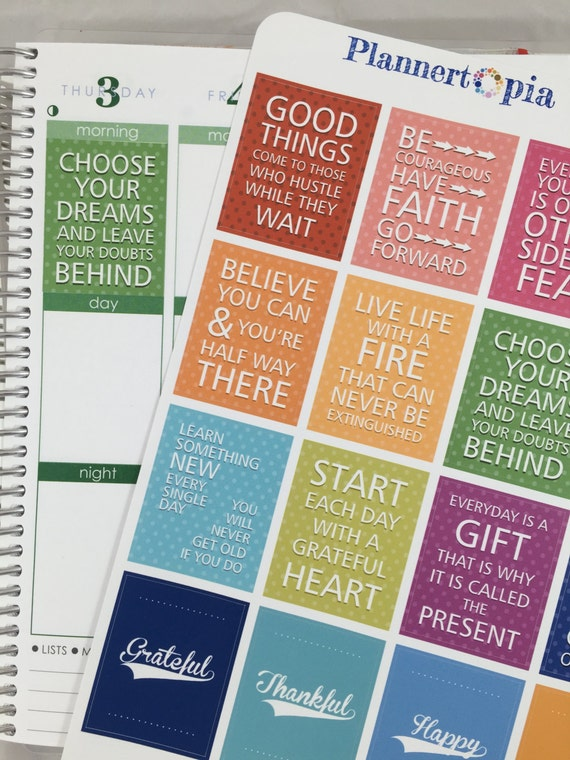 Motivational quotes 2 planner stickers motivational