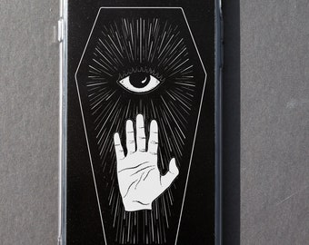 Occult iPhone case All seeing eye Nu gothic Pastel goth Tumblr Aesthetic Dark iPhone 6 6s 6+ 6s+ 7 7+ 8 8+ plus X Spooky Creepy Left hand