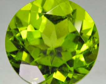 Genuine Natural Apple Green Peridot AAA Round Faceted (1.5mm - 10mm) Loose Stones