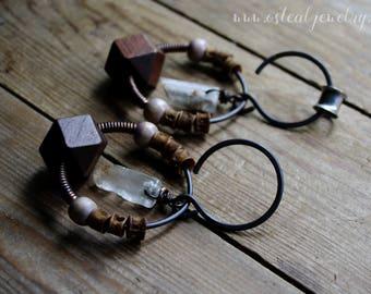 Amulet - earrings, 12 gauge