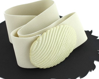 Alabaster Elastic Vintage Belt