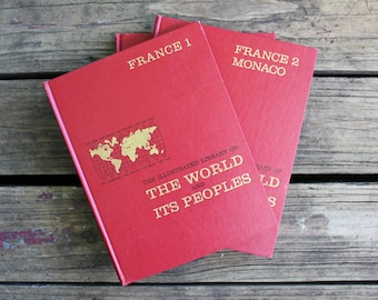 The Illustrated Library of the World and Its People, France 1 & France 2 Monaco, 1963 Greystone Press