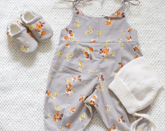 Summer Romper, soft floral cotton lawn
