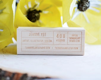Business Card Rubber Stamp