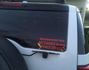 Hot Flash car decal