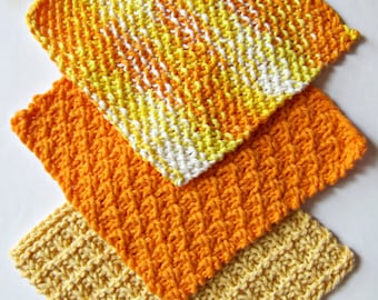 6 Ecofriendly Knit Dishcloth Patterns Tutorials - E-book PDF -  Fast Easy DIY  - Instant Download