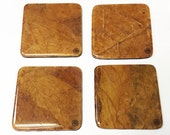 Hand-Crafted Tobacco Leaf Coasters (Square - Burley)