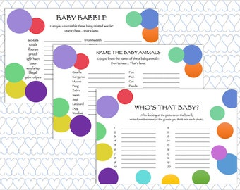 INSTANT DOWNLOAD, Bubble Baby Shower Party Pack, Bubble Baby Shower, Digital Download