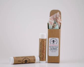All-Natural Pink Grapefruit Honey Lip Balm .15oz (Free Shipping in U.S.) for both men and women