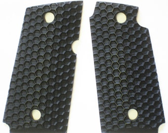 "Duragrips - Kimber Micro Carry 9mm 9 Tactical Grips - "" WASP NEST "" Black"