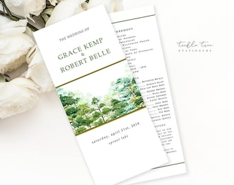 Forest Dreams - Wedding Programs (Style 13777)
