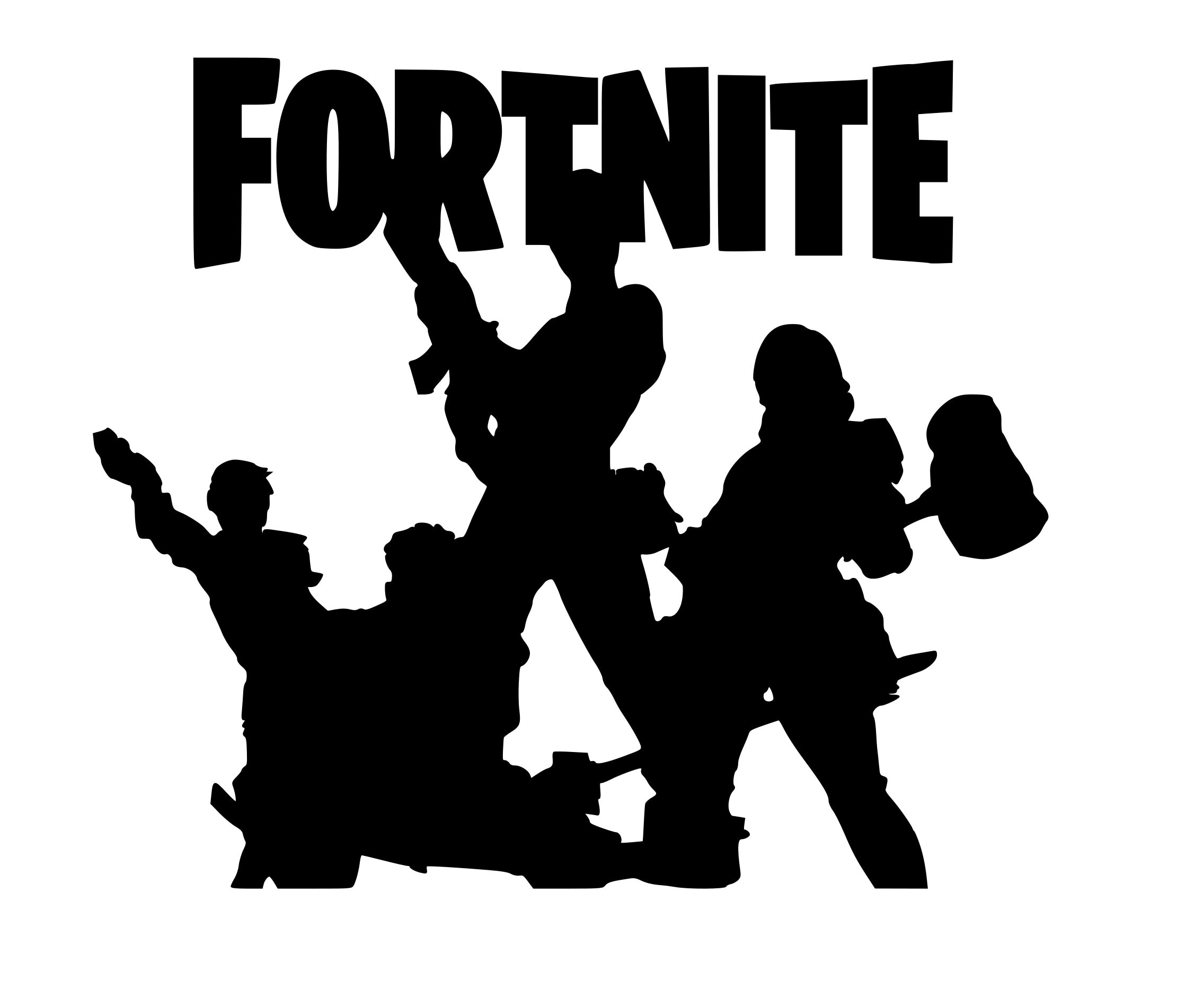 Fortnite Main Title SVG File