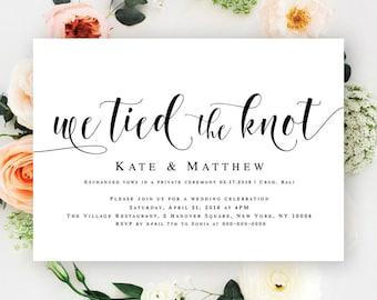 Reception invitation | Etsy