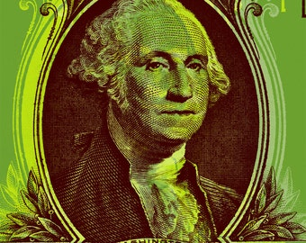 George Washington One dollar bill Pop Art  - canvas giclee