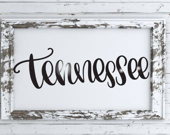 Tennessee - Hand Lettered SVG
