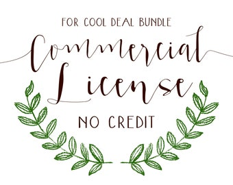 License, Commercial Use, Commercial License, Watercolor Bundle, Commercial Purpose, Small Business Use, Product License
