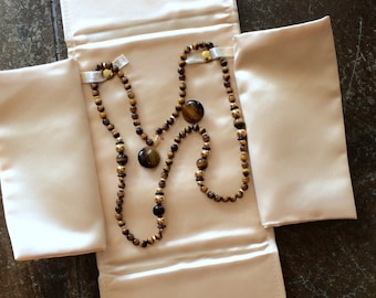 Tiger's Eye Vintage Necklace and Earrings