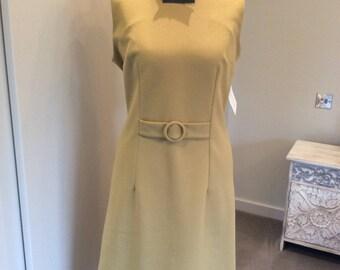 Vintage 1970s crimplene shift dress UK size 12