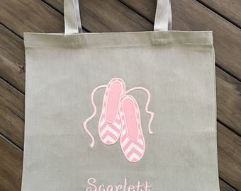 Personalized Dance Ballet Shoes Bag - Several Color Options Available