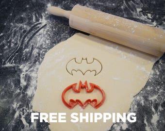 Batman Cookie Cutter - 3d Printed Bat Shaped Baking Accessory