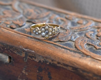 SOLD 15ct Gold & Pearl Ring