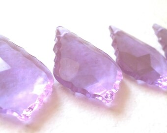5 Lilac French 38mm Chandelier Crystals Lavender Purple