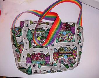 Rainbow Owls Mini Messenger Bag
