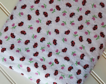 Marcus-Brothers-Fabric-By-The-Yard-Lady-Bugs-Red-Cotton-Flannel-Quilt-Fat-Quarter-Sew-DIY-Projects-Crafts-Supplies