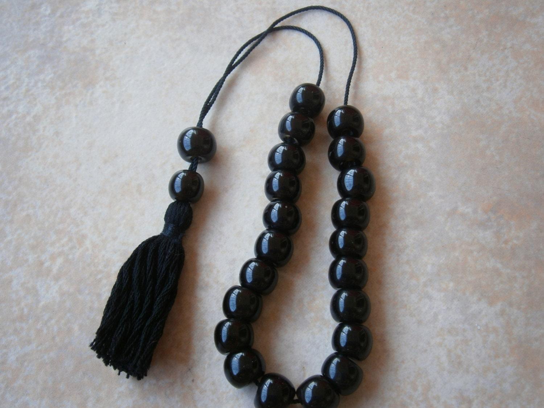 Greek Genuine Black Obsidian Bead Komboloi Turkish Prayer # Muebles Easy Rosario