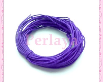 10 meters of REF648X2 purple waxed cotton thread