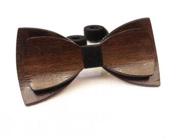 Beautiful Wood Bow Tie 0046