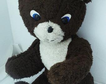 Vintage Big Bear- Old Stuffed Bear-Large Cute Bear-Stuffed Toy-Teddy Bear-Heavy Bear- Handsome Big Bear-Nursery decor-Collectable-Gift Idea