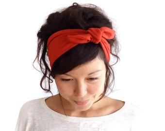 Tie Up Headscarf Pumpkin